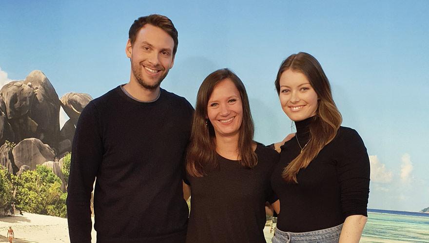 Goldene Sonne Digital: Finalisten Annika und Mathias von dreamteamaroundtheworld.de mit mir