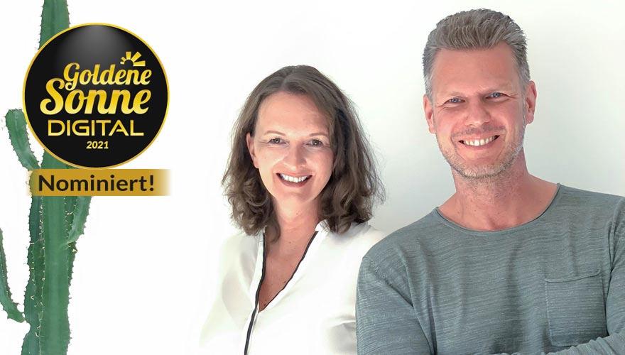 Nominiert für die Goldene Sonne Digital: 180gradsalon.de