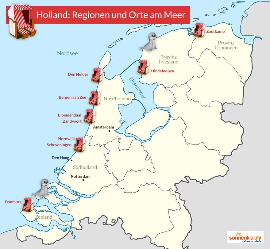 küste holland karte Hollands 9 schönste Orte am Meer | Der sonnenklar.TV Reiseblog