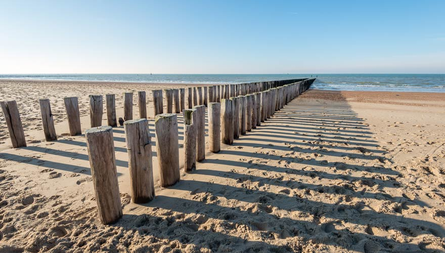 Strand von Domburg in Holland