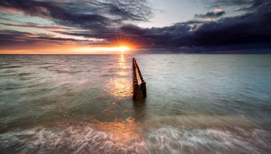 Strand von Hindeloopen - einer der schönsten Orte in Holland am Meer