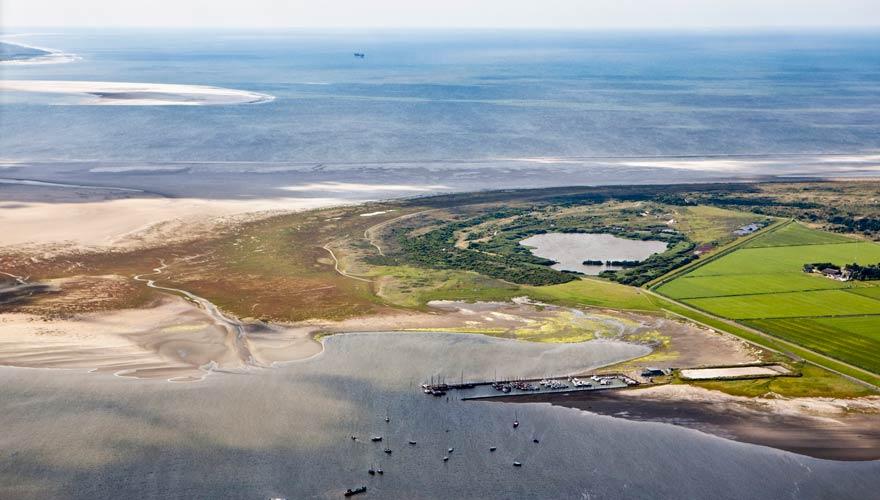 Die Insel Schiermonnigkoog in Holland