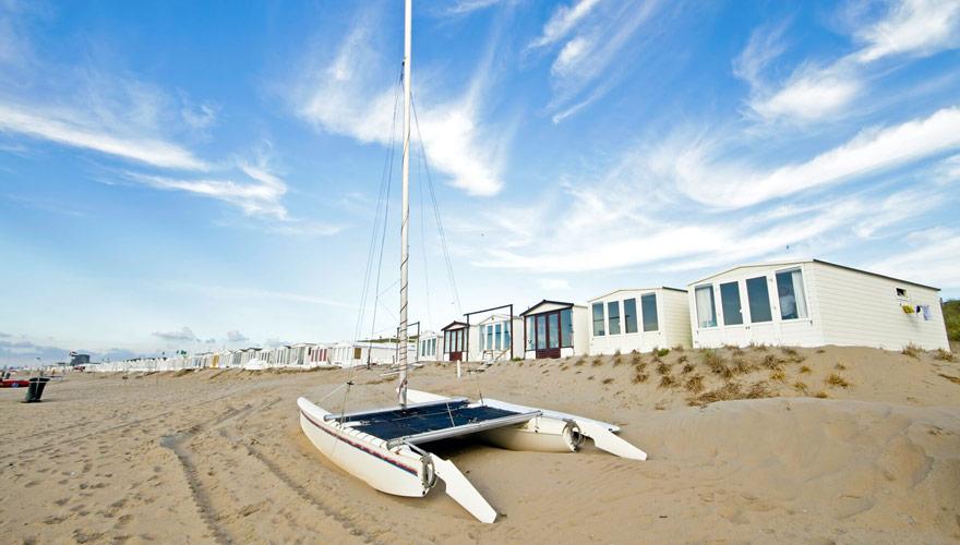 Strand von Zandvoort in Holland