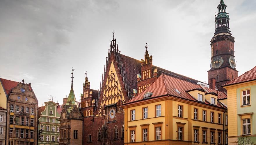 Das Rathaus ist ein Highlight im schönen Breslau