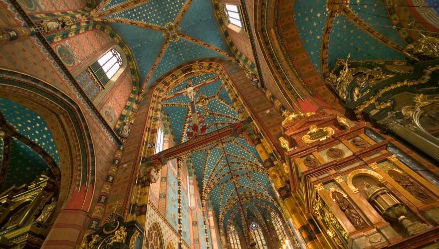 Die prachtvolle Marienkirche in Krakau