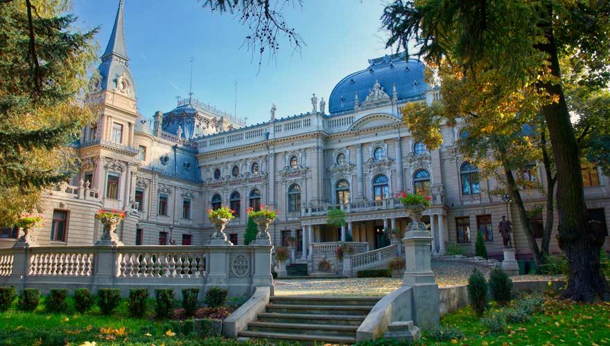 Der Poznanski Palast in einer der schönsten Städte Polens, Lodz