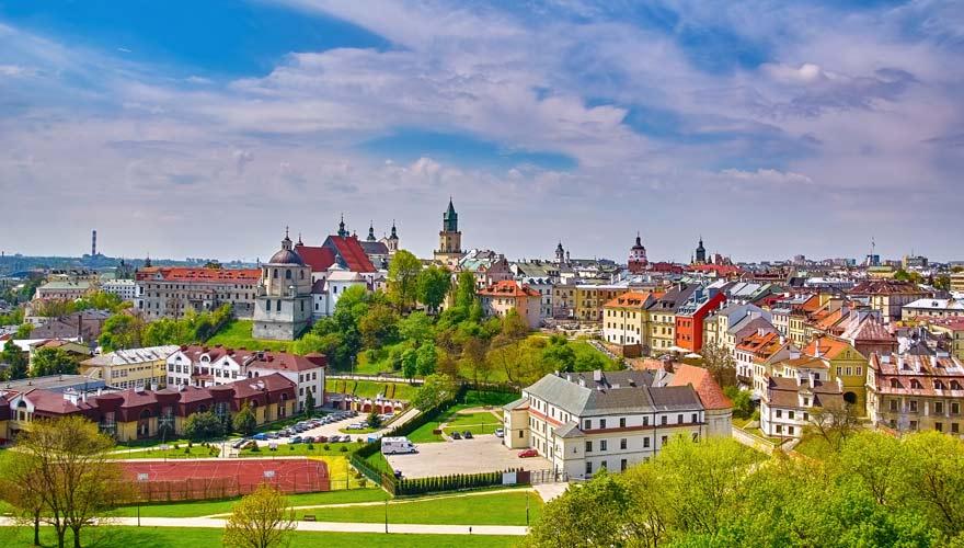 Panorama über der polnischen Stadt Lublin