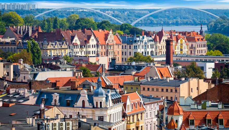 Panorama über Thorn oder Torun, wie es auf Polnisch heißt