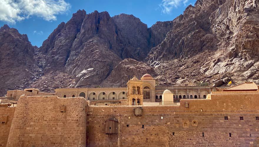 Festung des Katharinenklosters am Fuße des Berges Sinai