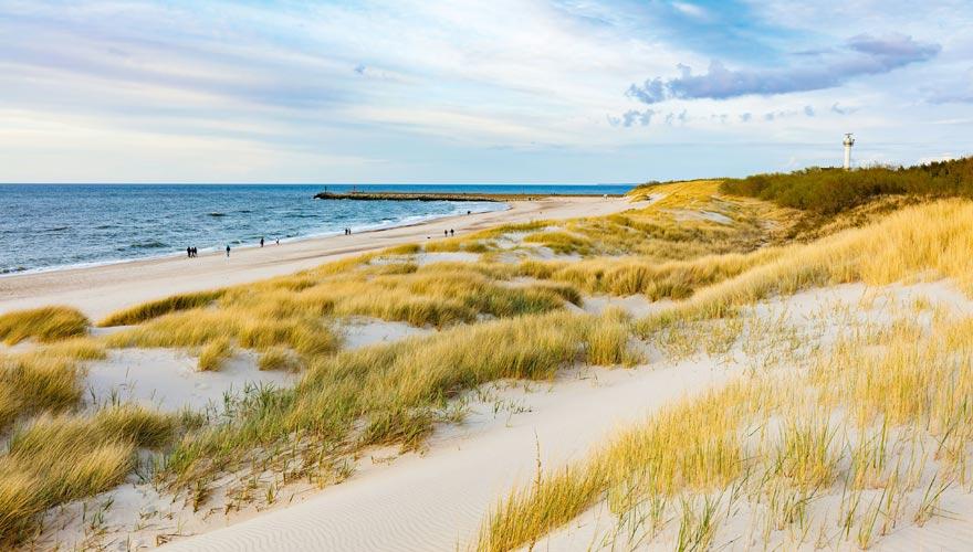 Ustka ist einer der schönsten Strände an der polnischen Ostsee