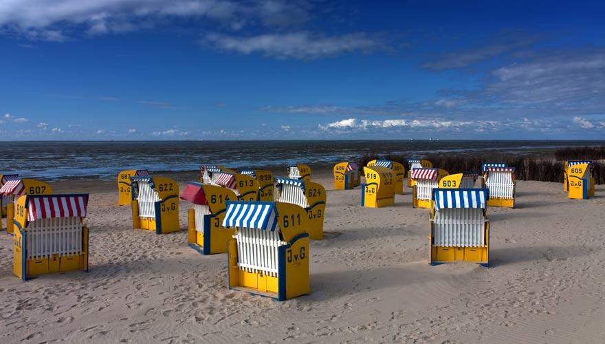 Strand von Cuxhaven an der deutschen Nordsee