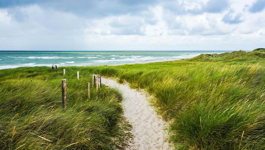 Dünenweg zum Strand auf Sylt
