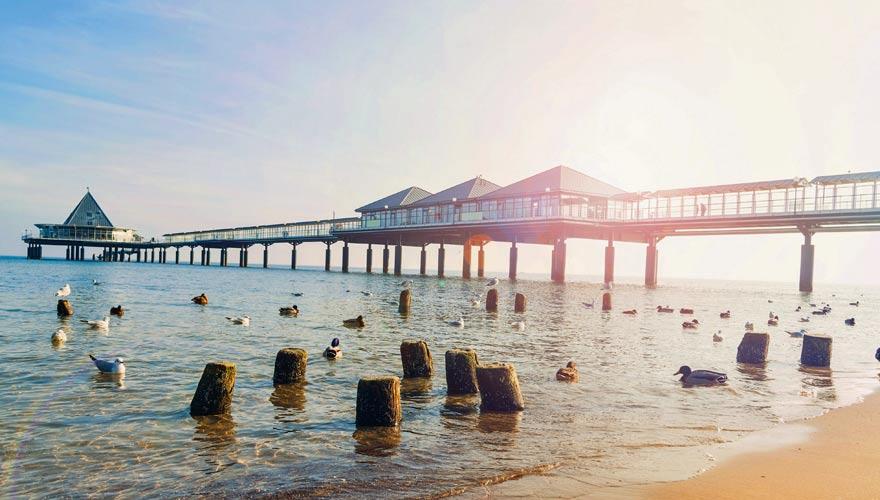 Pier am Strand von Heringsdorf auf Usedom