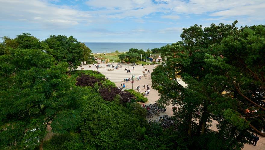Strandvorplatz von Karlshagen auf Usedom