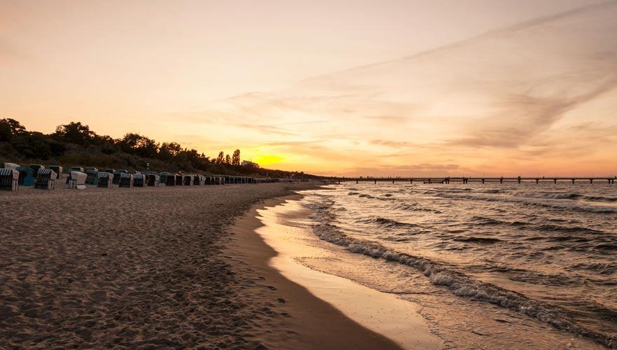 Strand von Zinnowitz auf Usedom