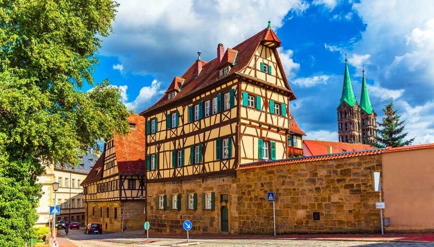 Fachwerkhaus in der Altstadt von Bamberg