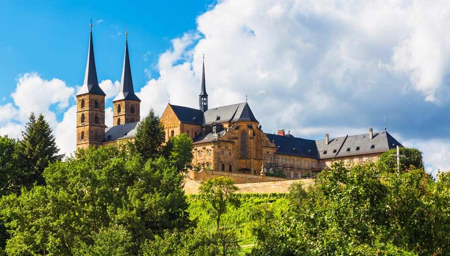 Blick aufs Kloster Michaelsburg in Bamberg