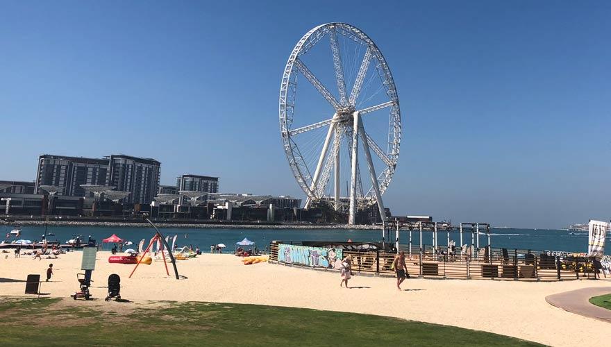JBR Promenade und Strand in Dubai