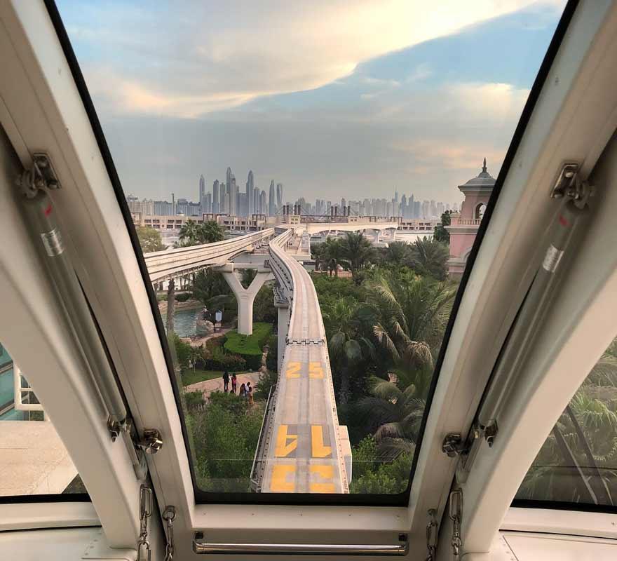 Panorama auf Dubai von der Monorail aus