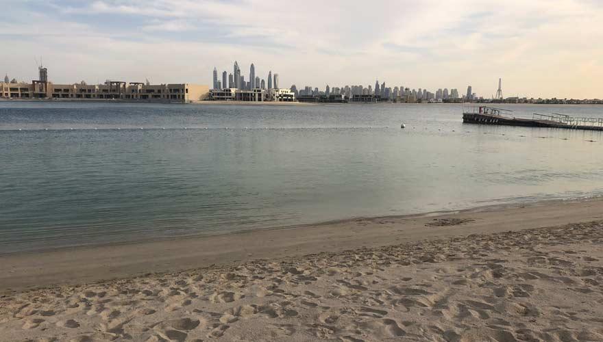 Strand vom Nasimi Beach Club in Dubai