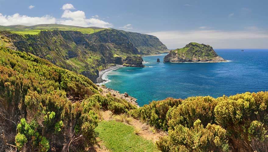 Nordküste der Azoren-Insel Flores