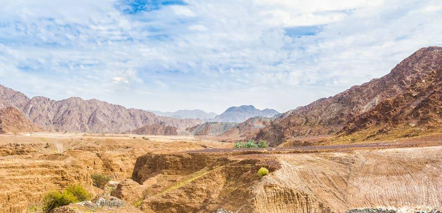 Panorama aufs Hadjar-Gebire im Emirat Fujairah