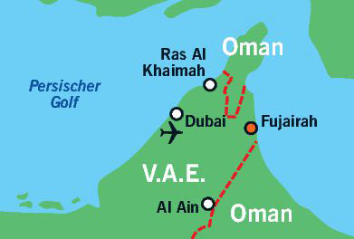 Karte Fujairah