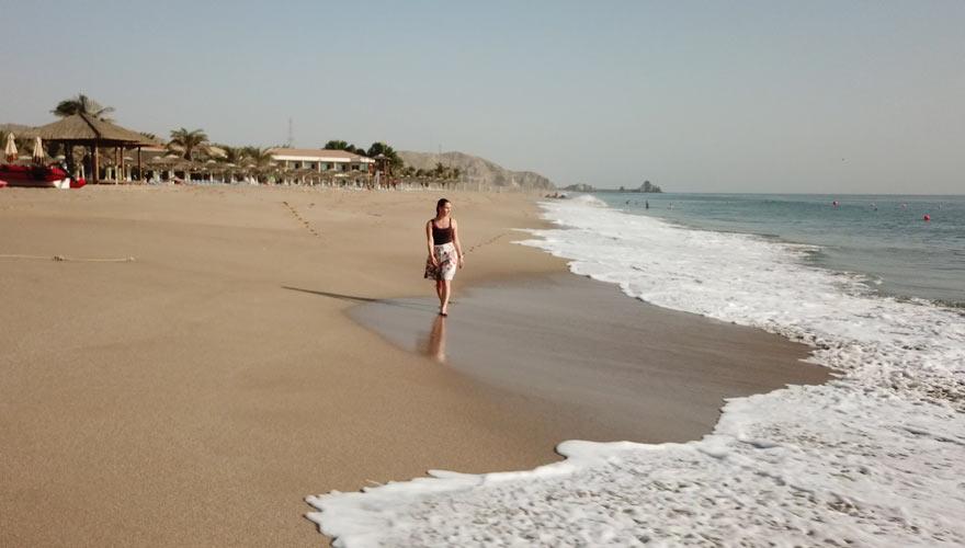 Strand vom Fujairah Rotana