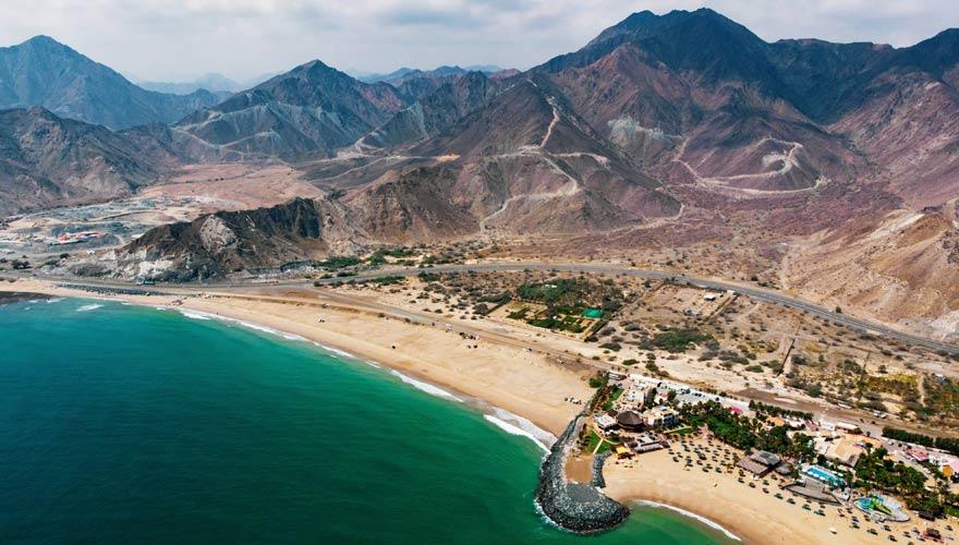 Strand von Fujairah