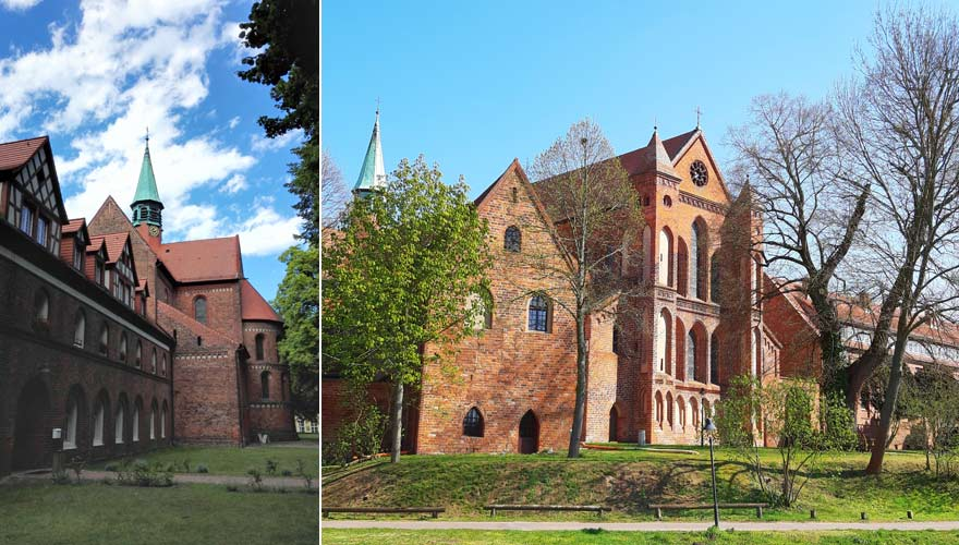 Außenansicht von Kloster Lehnin in Brandenburg