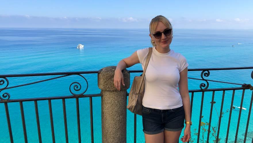 Sarah in Tropea - trotz Corona!