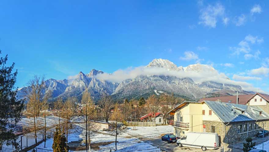Das Skigebiet Busteni in Rumänien