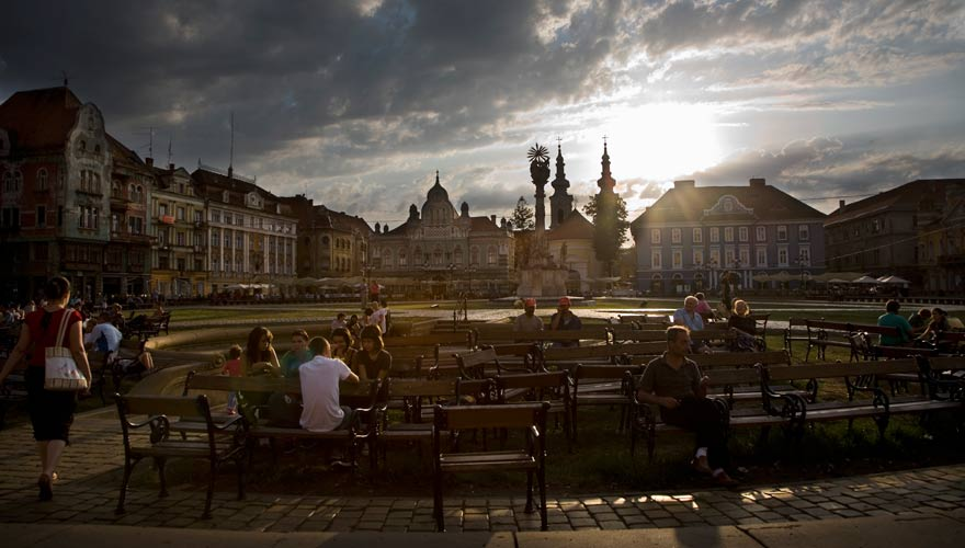 Platz in Timisoara, Rumänien