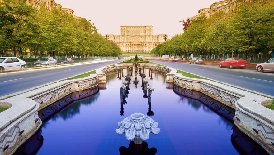 Parlamentspalast in Bukarest in Rumänien
