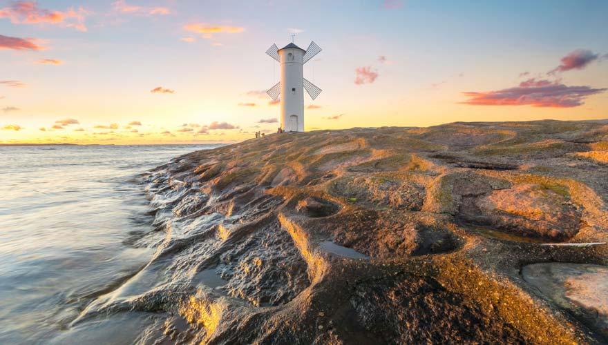 Leuchtturm am Strand von Swinemünde auf Usedom