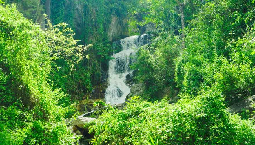 Mae Sa Wasserfall im Doi Suthep Pui Nationalpark in Chiang Mai