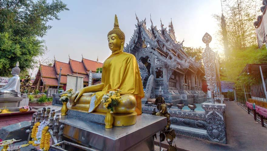 Der silberne Tempel Wat Sri Suphan in Chiang Mai