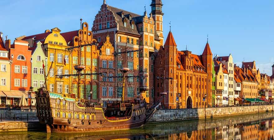 Altstadt von Danzig in Polen