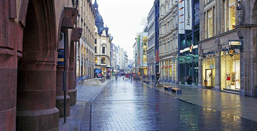 Einkaufsstraße in Leipzig