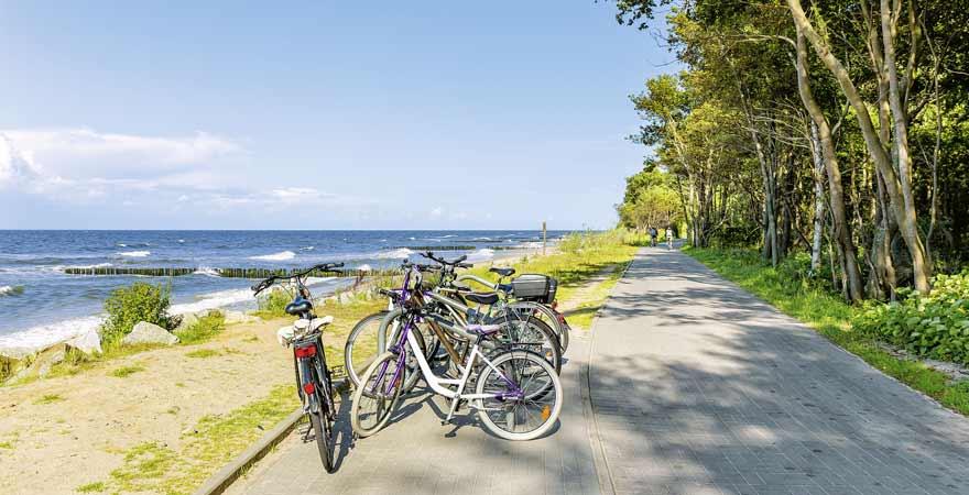 Fahrradfahren an der polnischen Ostsee