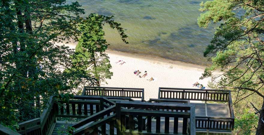 Strand auf der Insel Wollin in Polen