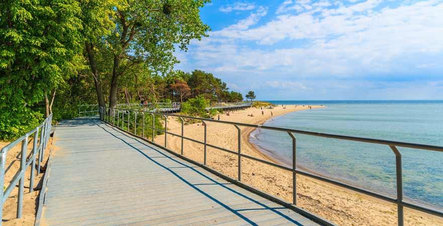 Strand bei Puck in Polen