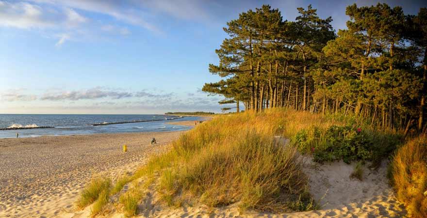 Strand in Darlowo in Polen