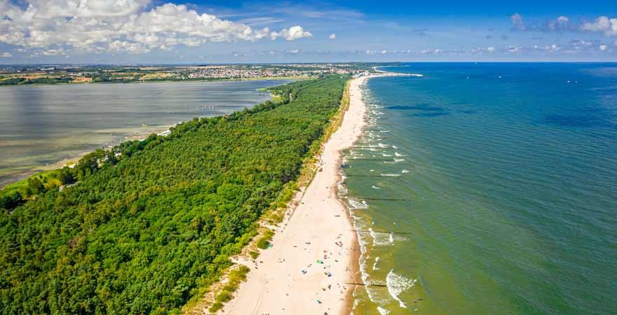 Strand von Hel in Polen