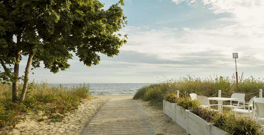Strand von Ustka in Polen
