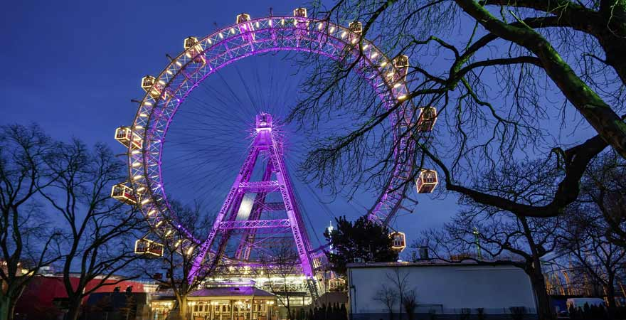Riesenrad im Prater in Wien