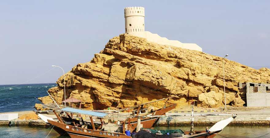 Dhau in Sur im Oman