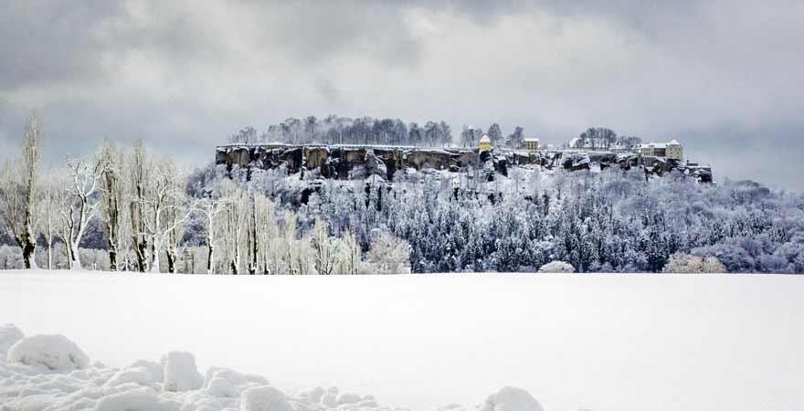 Festung Königsstein in der Sächsischen Schweiz