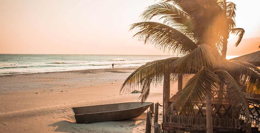 Strand in der Souly Eco Lodge im Oman
