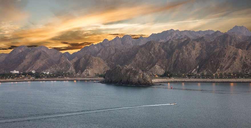 Strand in Muscat im Oman